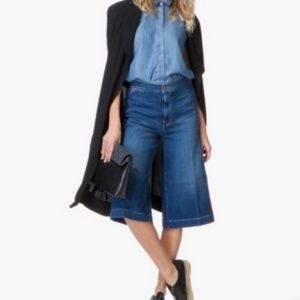 FRAME DENIM WIDE LEG CROPPED JEANS